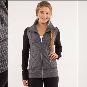 Lululemon daily yoga heathered grey jacket